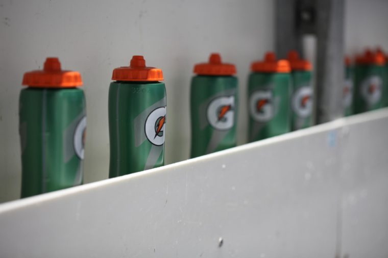 Sports drink Gatorade isolated at All Star Cup 2018. 17.02.2018, Bratislava, Slovakia
