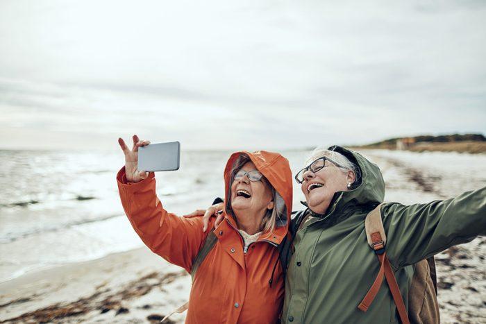 senior friends travel selfie instagram