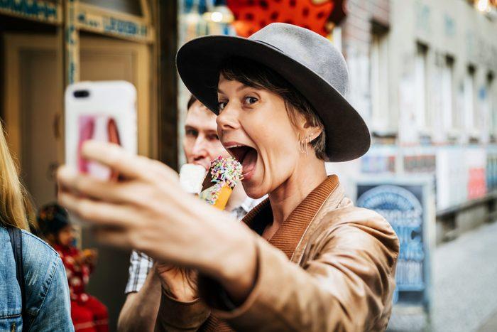 selfie ice cream instagram food selfie