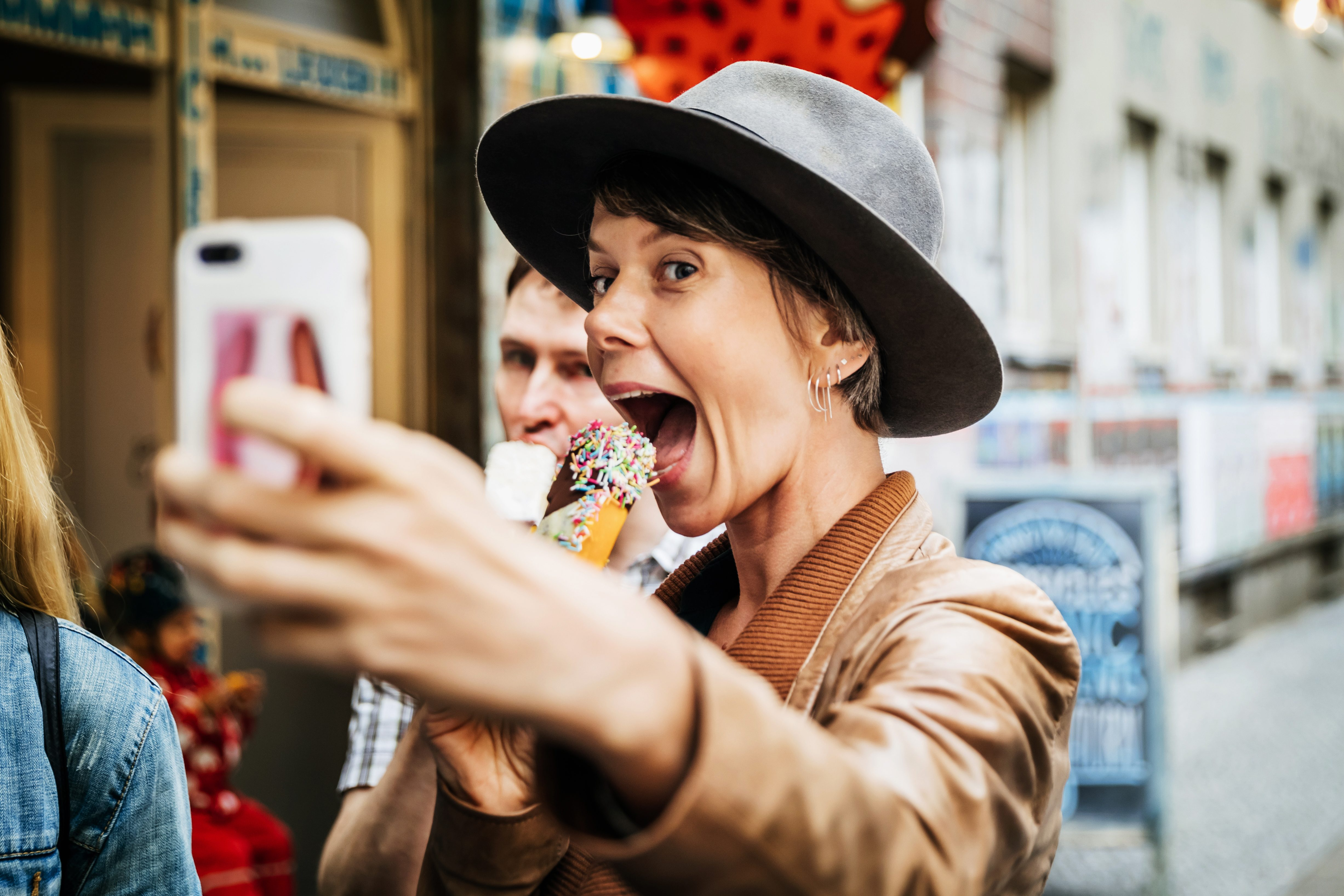 selfie ice cream instagram food selfie