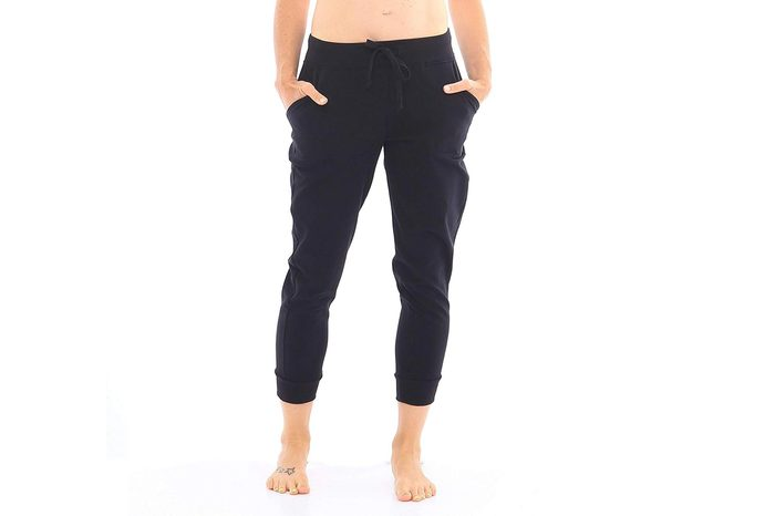 Hyde Women's Organic Cotton Premium Quality Activewear Jogger Pant with Wide Ribbed Drawstring Waistband and Pockets.