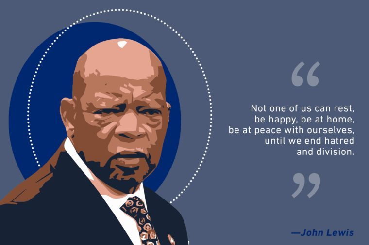 John Lewis illustration and quote