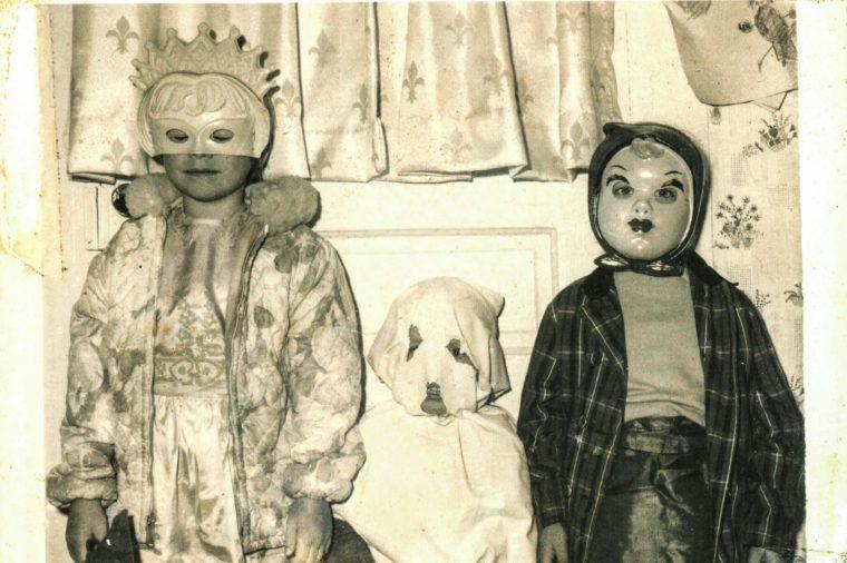 Karen, Evart and Janice dressed up