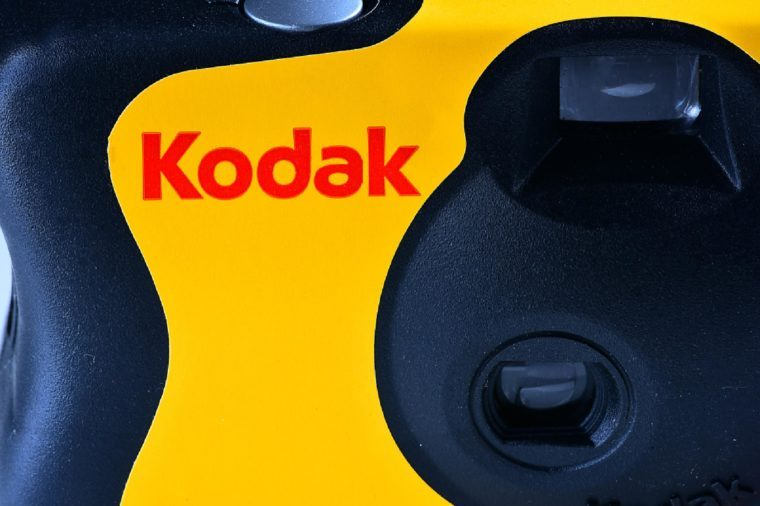 KODAK film camera.Kodak is an American technology company that produces imaging products with its historic basis on photography.