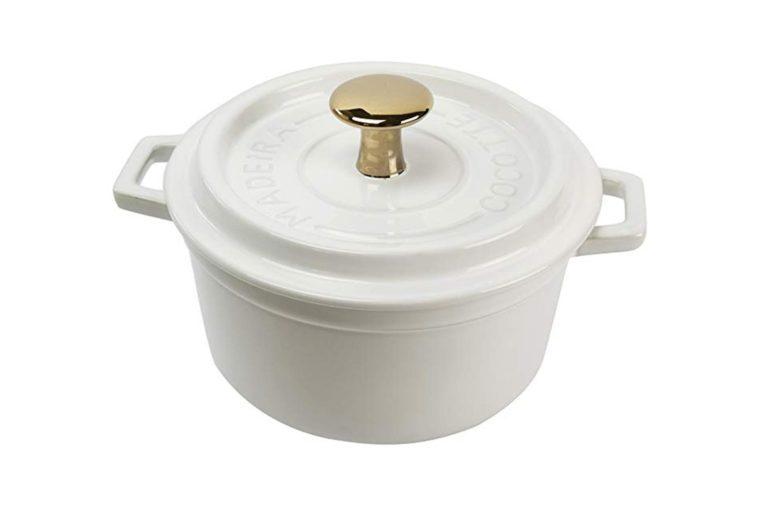 Madeira by Architec Cocotte Baking Dish, White Ceramic, 2 Quart