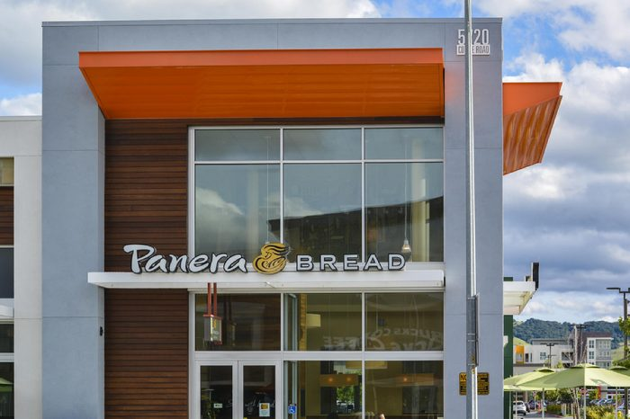 Panera Bread branch in San Jose, CA. Panera Bread is a US chain featuring bakery products, sandwiches, and salads.