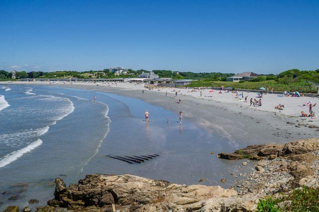 Bailey's Beach seen from Newport Cliff Walk
