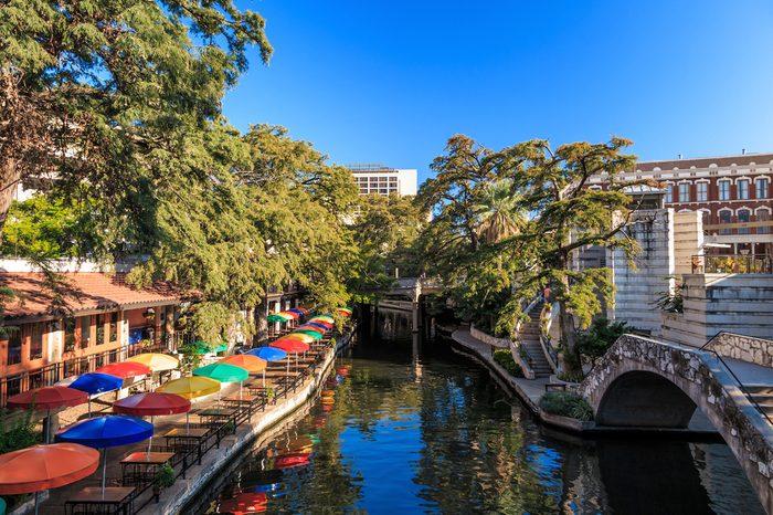 The famous Riverwalk in San Antonio, Texas.