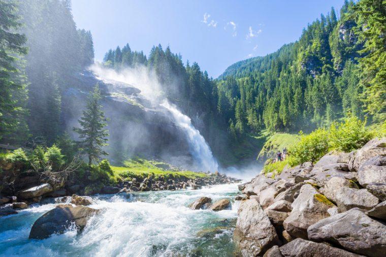 The Krimml Waterfalls in the High Tauern National Park, Salzburg, Austria
