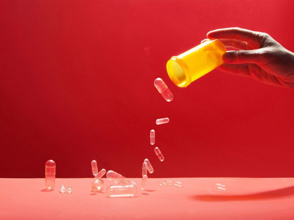 pour out pill bottle