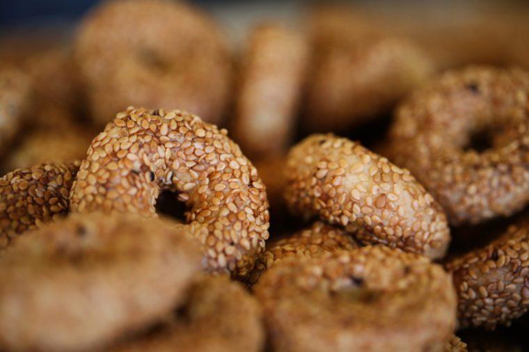Tiny Bagels, Sesame Bagels, Kandil Bagels
