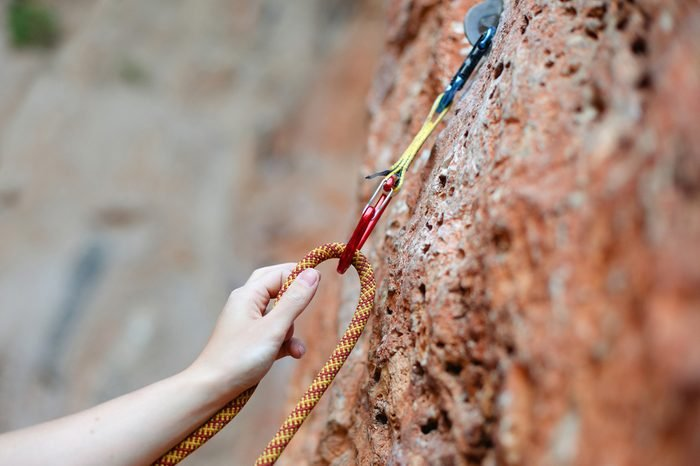 climbers hold and quick-draw