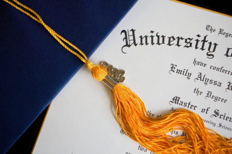 Diploma and Tassel