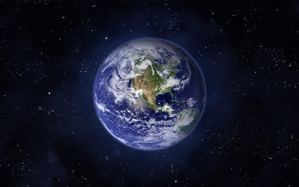 Planet Earth. Western hemisphere. This image elements furnished by NASA.