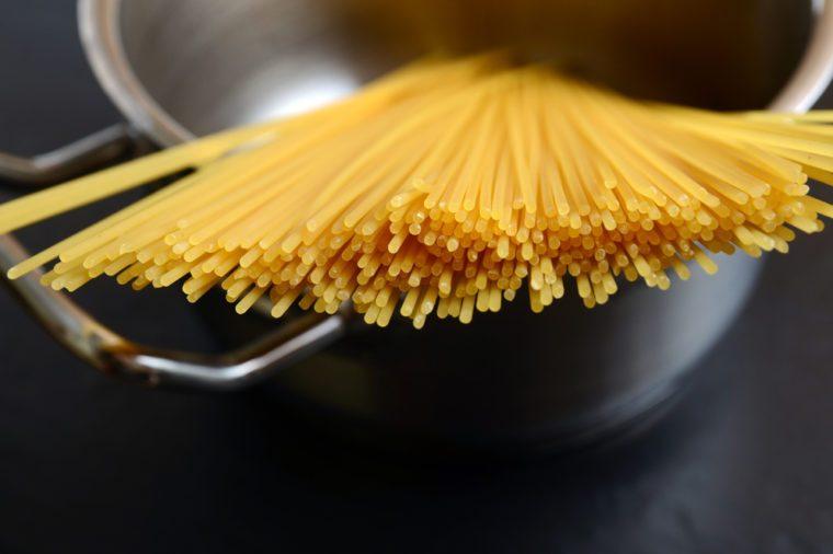 Spaghetti in a pot