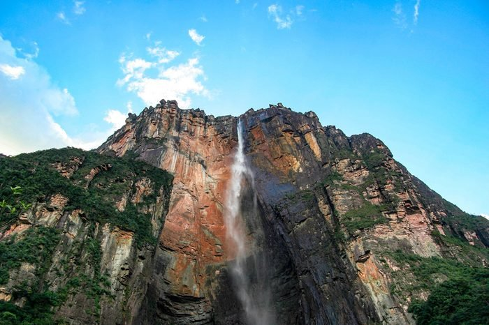 Angel Falls is a waterfall in Canaima National Park in Venezuela. It is the world's highest uninterrupted waterfall.