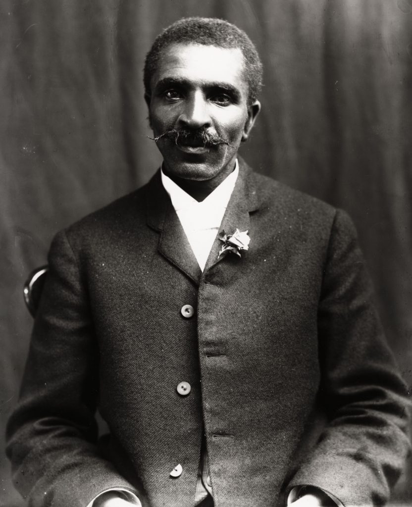 Art - various George Washington CARVER 1864-1943, African-American scientist renowned for his research in agriculture and synthetics, photographed c. 1900
