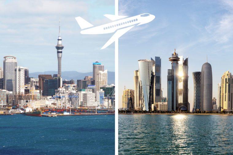 longest nonstop flights auckland to doha