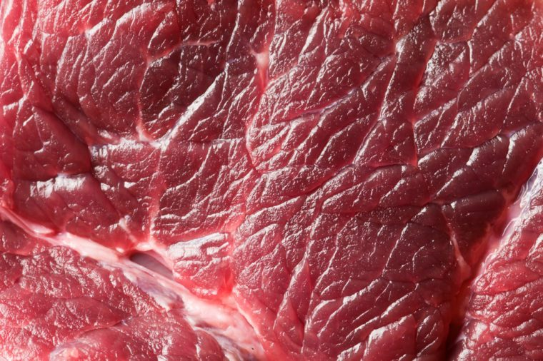 fresh beef piece in closeup