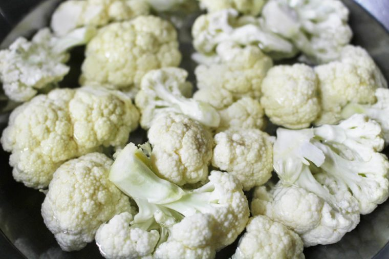 cauliflower cut into small pieces