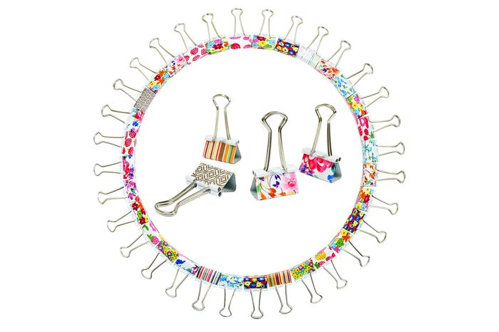 """Cute Decorative Binder Clips - Best for Home and Office - Binds and Keeps Stack of Papers Fastened - Organize Papers Beautifully, Neat and in a Fun Way - Medium Size 1"""" - 32 Pack - Makes A Great Gift"""