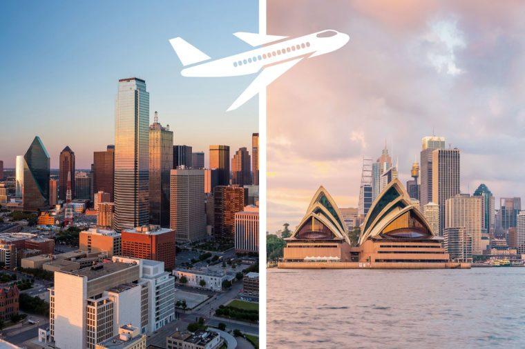 longest nonstop flights dallas to sydney