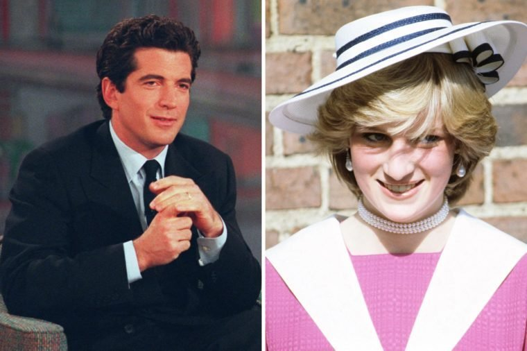 John F Kennedy Jr and Princess Diana