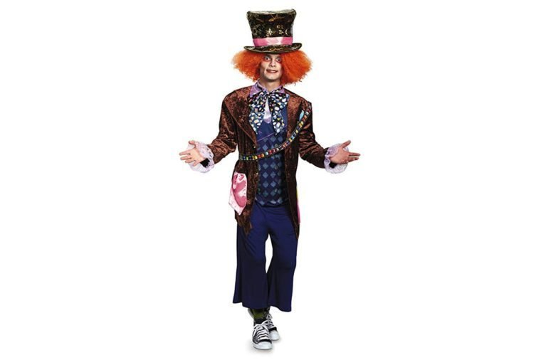 Disguise Men's Alice Mad Hatter Deluxe Costume