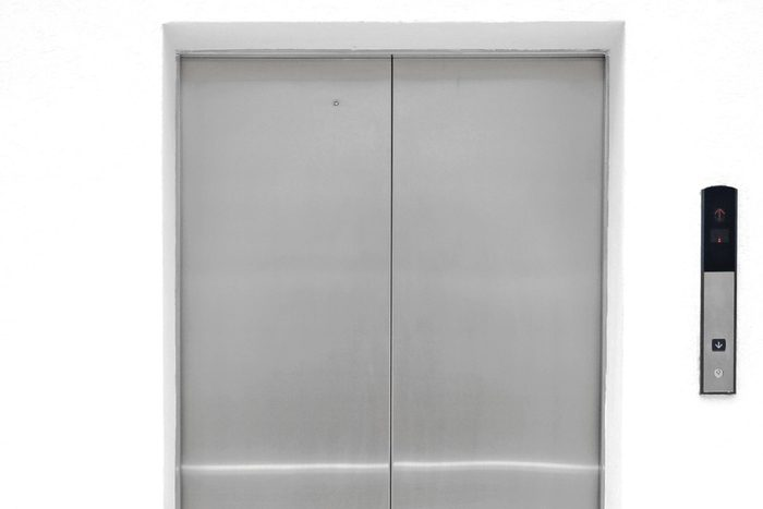 single elevator door