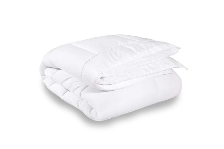 Equinox All-Season White Quilted Comforter - Goose Down Alternative Queen Comforter - Duvet Insert Set - Machine Washable - Hypoallergenic - Plush Microfiber Fill (350 GSM)