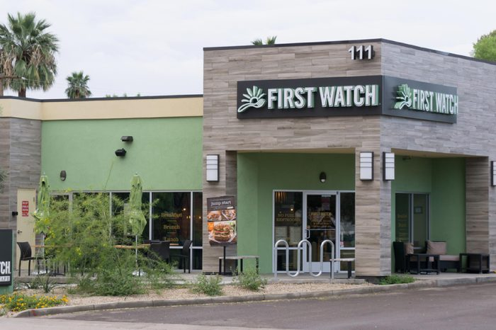 First Watch Restaurant. First Watch is a restaurant chain focusing on breakfast and lunch service.
