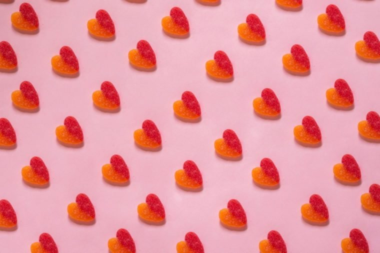 Heart pattern on pink background - Love concept