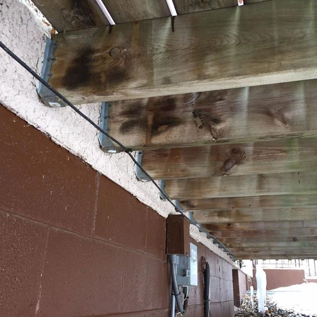 joist hangers into stucco