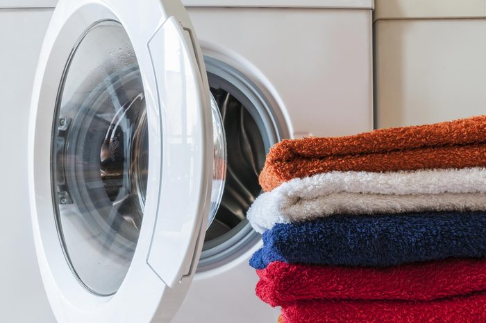 towels in front of dryer