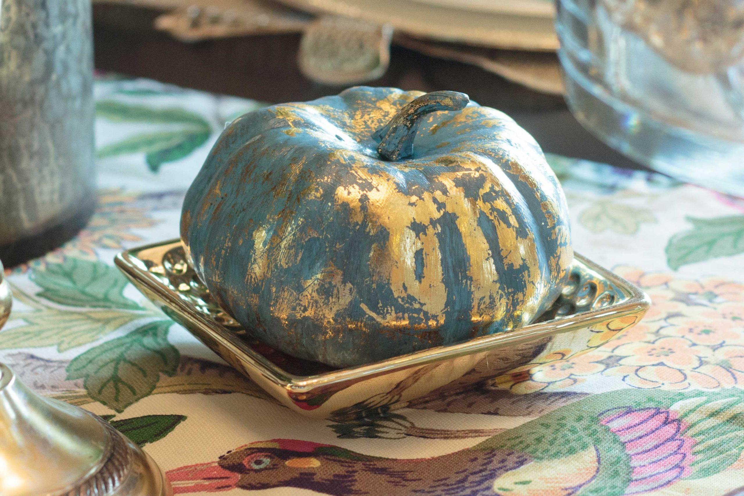 Metallic-foil pumpkin