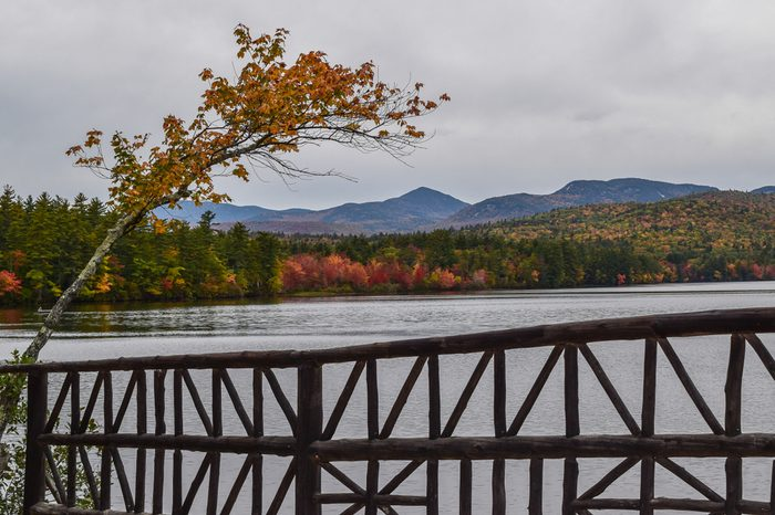 New England Foliage - Kancamagus Highway in North Conway, New Hampshire