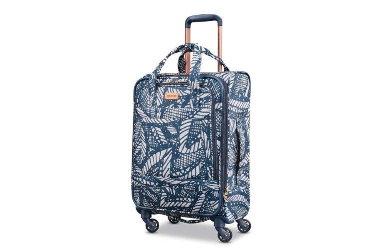 palm tree luggage