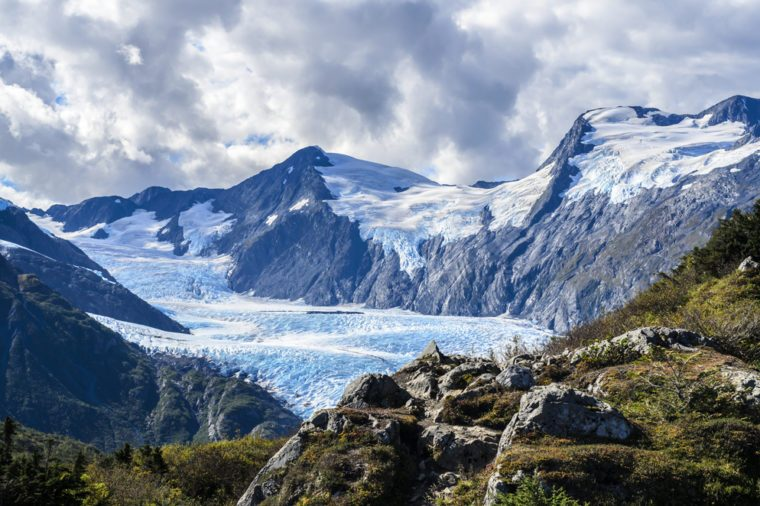 A view of Portage Glacier from Portage Pass, Whittier, Alaska