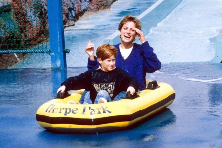 Princess Diana and family at Thorpe Park, Britain - 1992