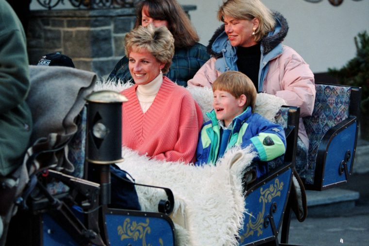 Princess Diana on a skiing holiday, Lech, Austria - Mar 1994