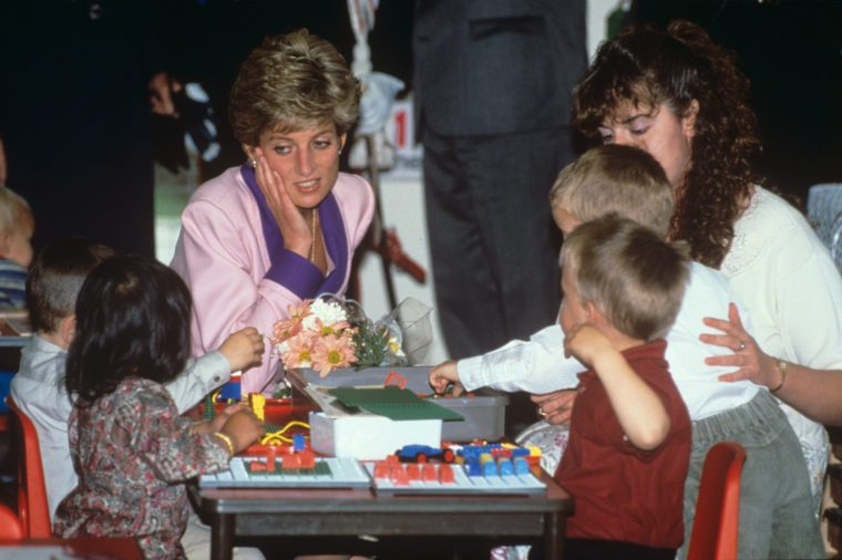 Princess Diana with children