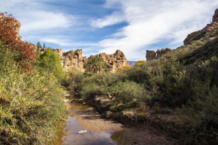 queen creek at Boyce Thompson Arboretum Arizona State Park