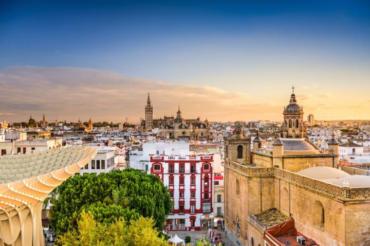 Seville, Spain Old Quarter Skyline.