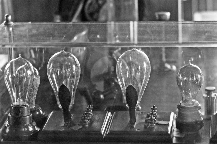 DETROIT – SEPTEMBER 1,1979: Thomas Edison light bulb laboratory. Vintage picture taken in 1979.