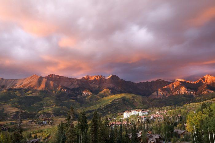 Sunset in Telluride Colorado
