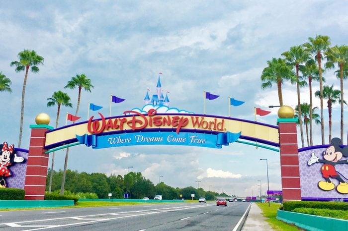 Orlando, Florida, USA - July 29, 2016: Entrance of Walt Disney World near Orlando