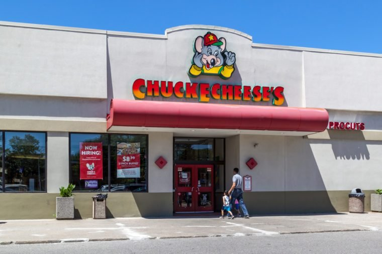 Chuck E. Cheese's in Toronto, Canada. Chuck E. Cheese's is a chain of American family entertainment centers and restaurants.