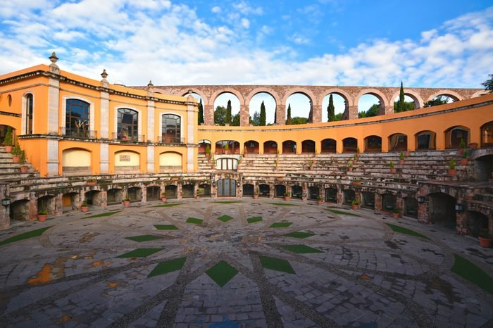 June 18, 2018. Zacatecas Mexico. Exterior view of the 5 star Hotel Quinta Real.