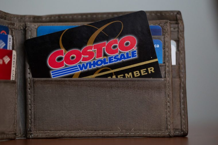 Costco Card in Wallet