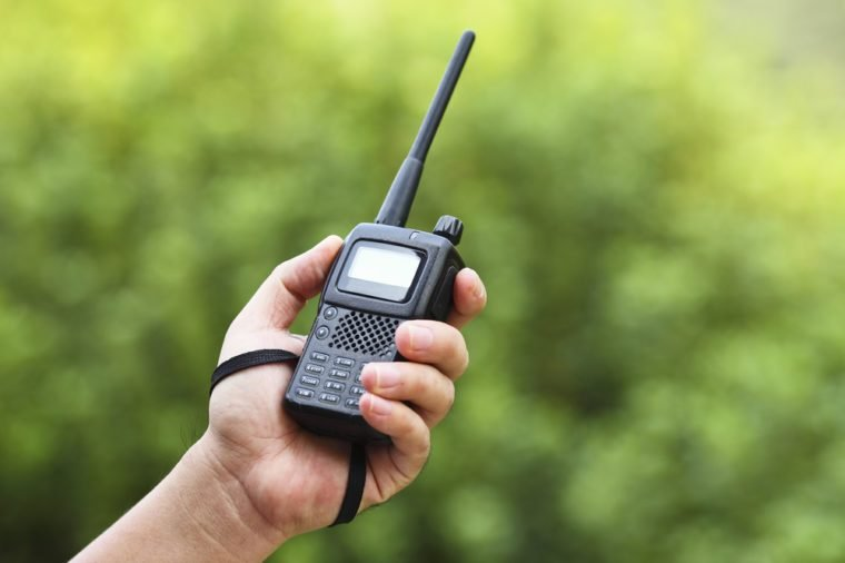 Handheld walkie talkie for outdoor
